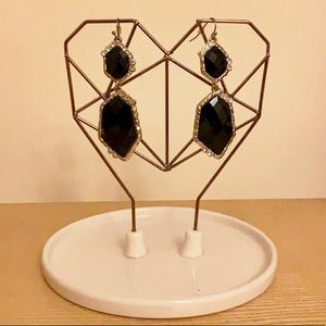 Large Black Costume Earrings